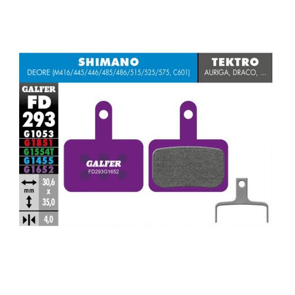 E-Bike Brake Pad G1652 Shimano Deore - Violet
