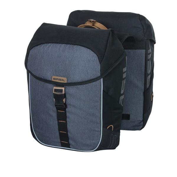 Doppeltasche Miles schwarz/grau - 34 Liter
