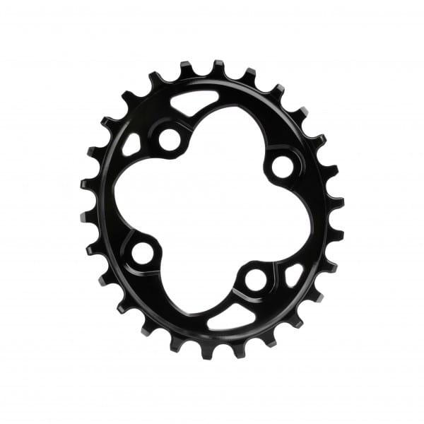 Kettenblatt - Oval - 64 BCD 4-loch - schwarz