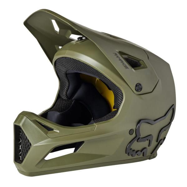 Rampage CE - Fullface Helm - Olive Grün