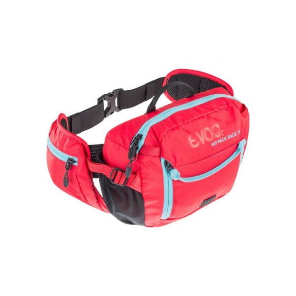 Hip Pack Race 3L + 1,5L Trinkblase - Rot Neonblau