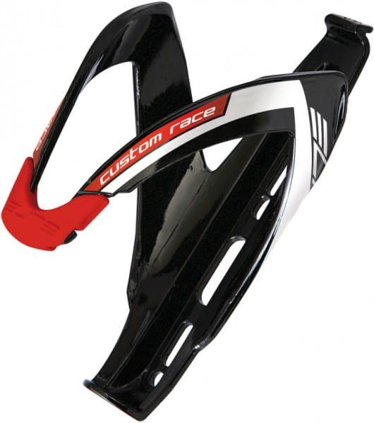Custom Race Flaschenhalter-schwarz/rot glänzend