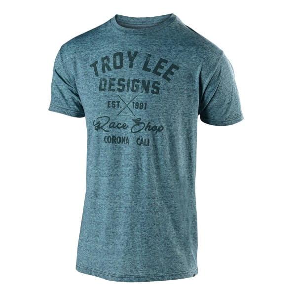 Vintage Race Shop T-Shirt - Hellblau