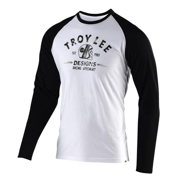 Racing Specialist langärmliges T-Shirt - Weiß/Schwarz