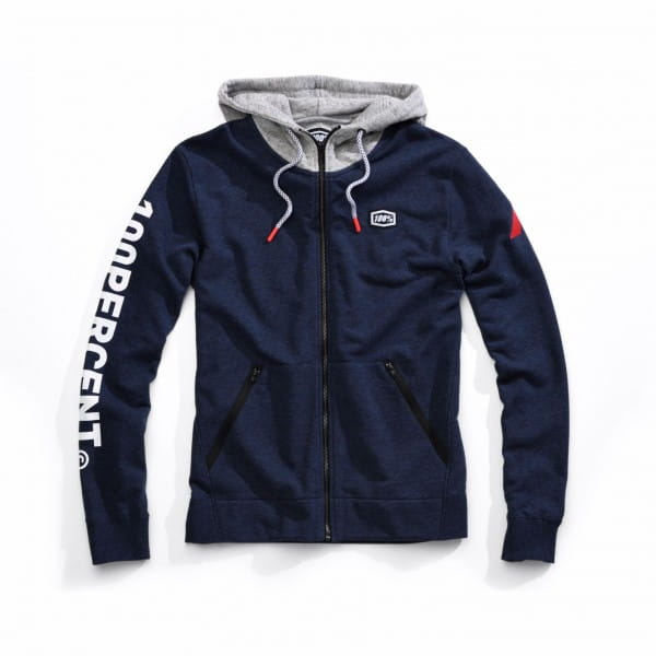 Hiatus Full-Zip Hoody - navy heather