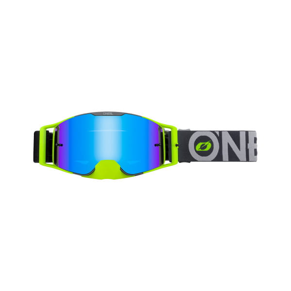 B-30 Bold - Radium Blau - Goggle - Grau/Neongelb