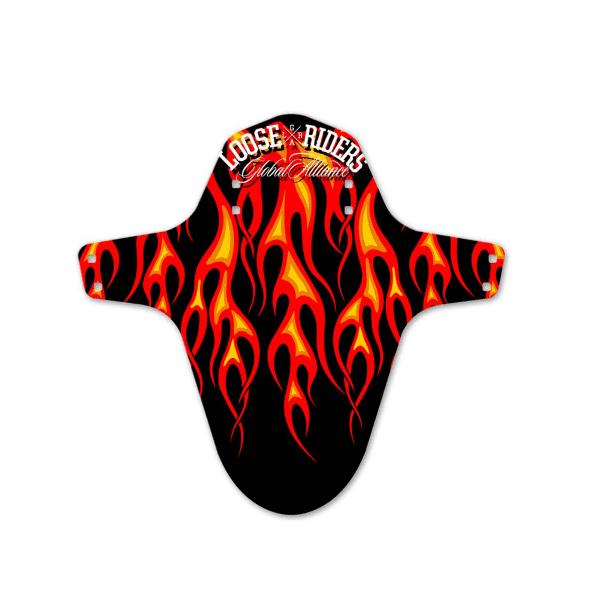 Mudguard Flames - Schwarz/Rot
