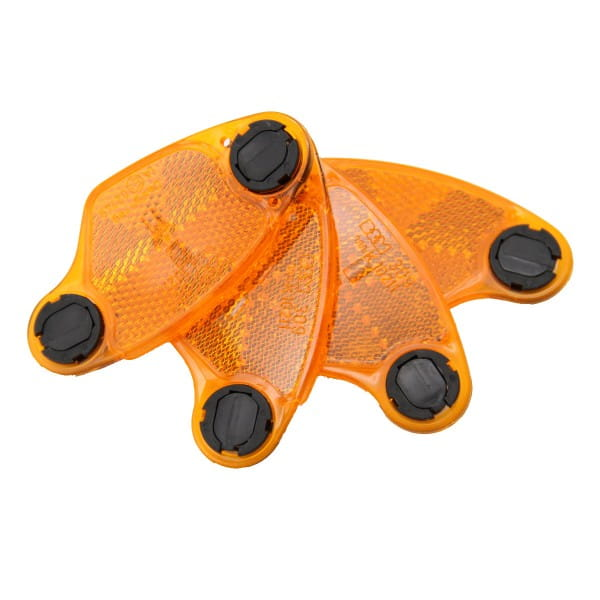 Spoke reflectors with clip - orange