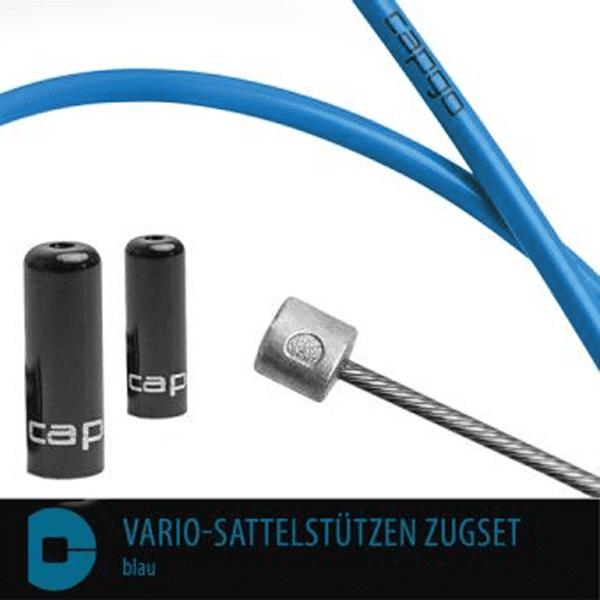 BL Vario-Sattelstützen Zugset - Blau
