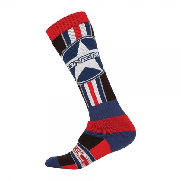 Pro MX Socks - Afterburner - black/blue/red