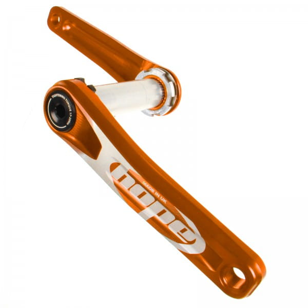 Kurbel ohne Spider 83mm - orange