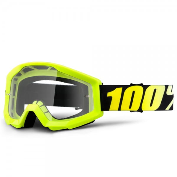 Strata MX Goggle - Neon Yellow Clear Lens