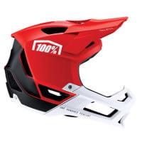 Trajecta Helm - Rot/Weiß