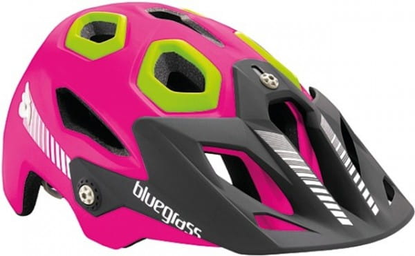 Golden Eyes All Mountain / Enduro Helm - pink/grün