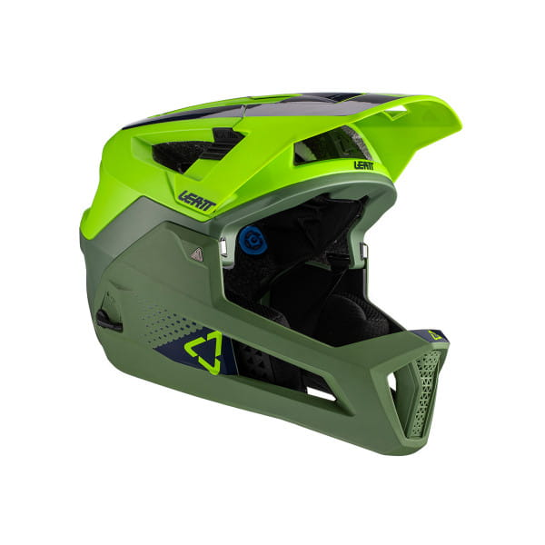 MTB 4.0 Enduro - Fullface Helm - Grün