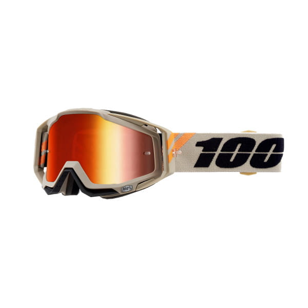 Racecraft Goggle Anti Fog Mirror Lens - Orange/Beige