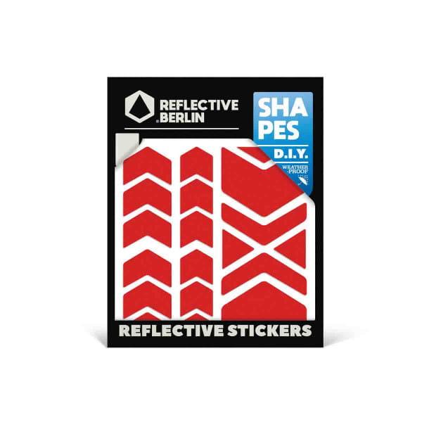 Reflective SHAPES - Chevron - rot