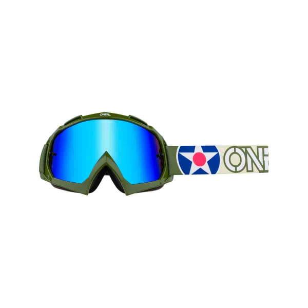B-10 Goggles  Warhawk Radium Blau - Grün