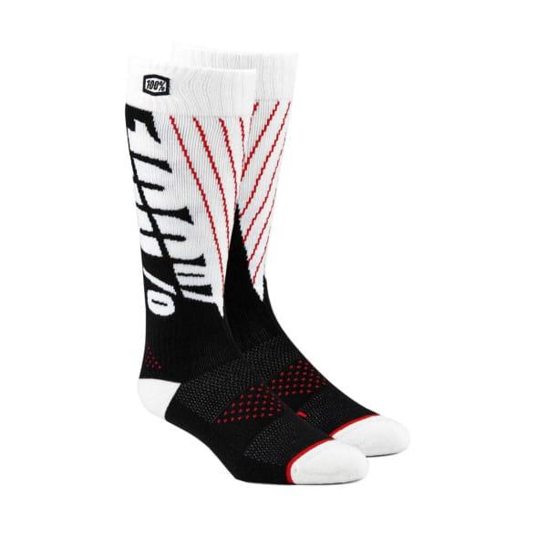 Moto Socken - Schwarz/Weiß