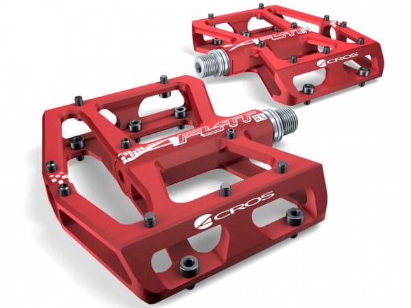 A-Flat XL Plattformpedal - rot