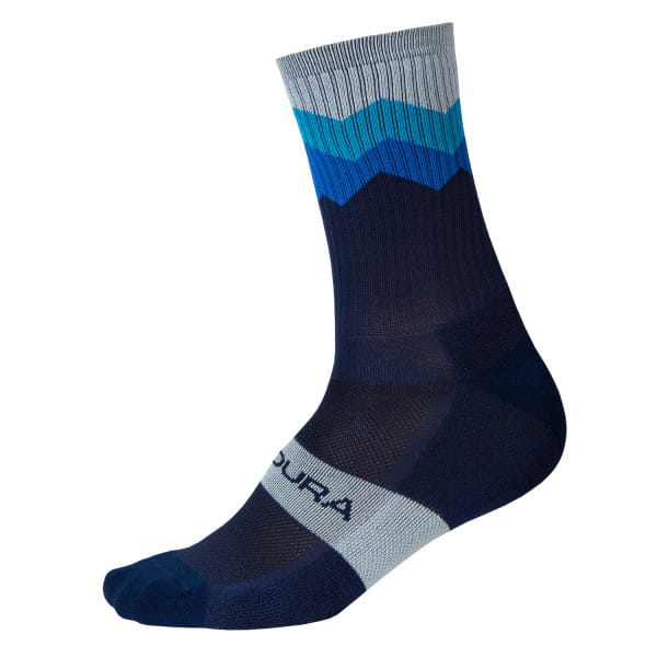 Zacken Socken - Marineblau