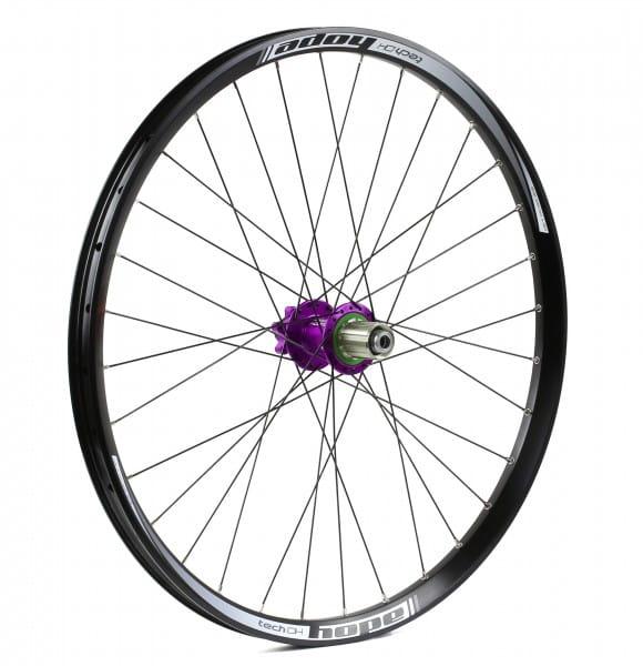Tech DH-Pro 4 Hinterrad 150mm - purple