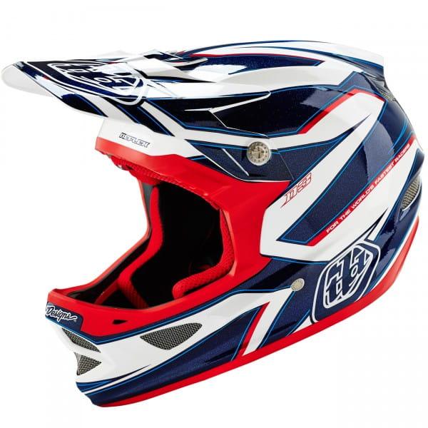 D3 Fullface Helm Reflex White