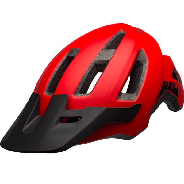 Nomad Fahrradhelm - Rot/Schwarz