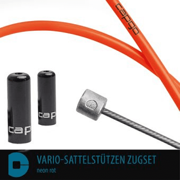 BL Vario-Sattelstützen Zugset - Neon Rot