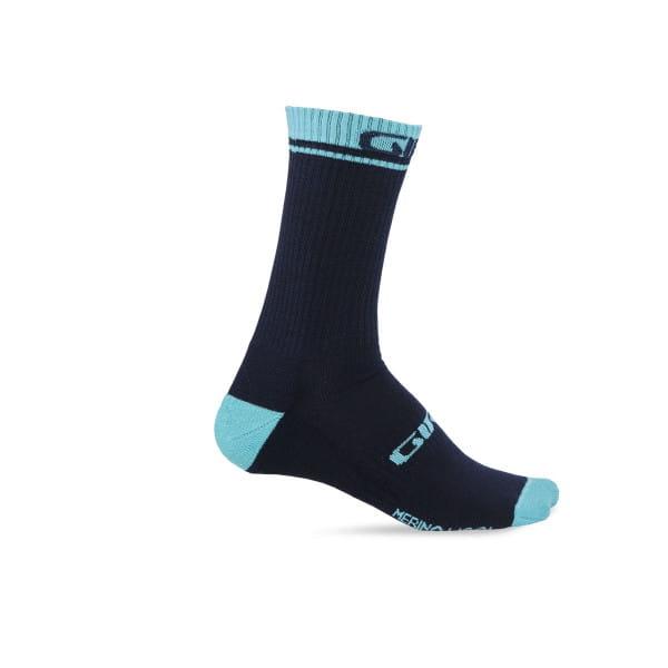 Merino Wolle Socken - Midnight Blue