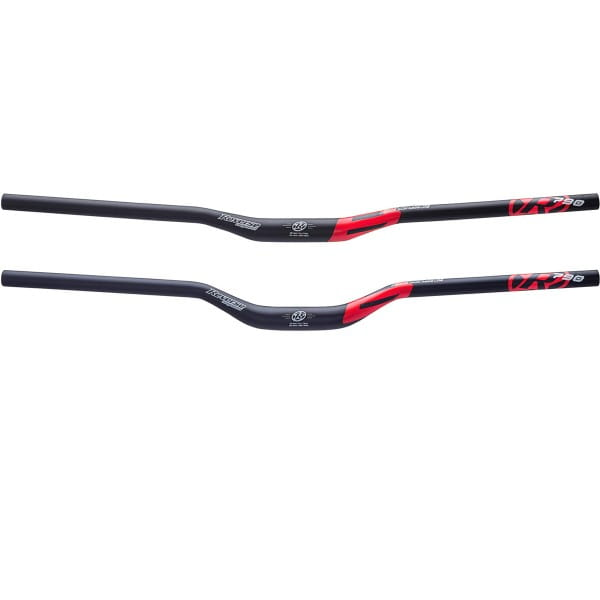Base Handlebar Riser 790mm Bar 31.8mm - Matte Black / Red