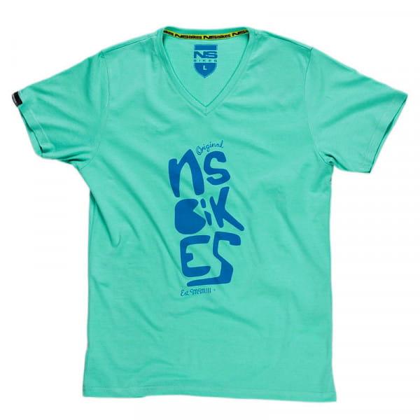 Doodle V-Neck T-Shirt Turquoise