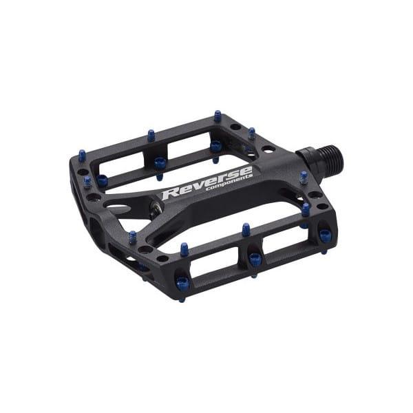 Black ONE Plattformpedale - Pins blau