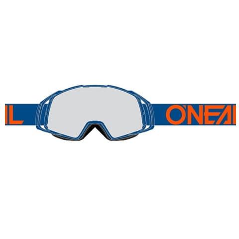 B20 Flat Goggle - blue - Glass clear
