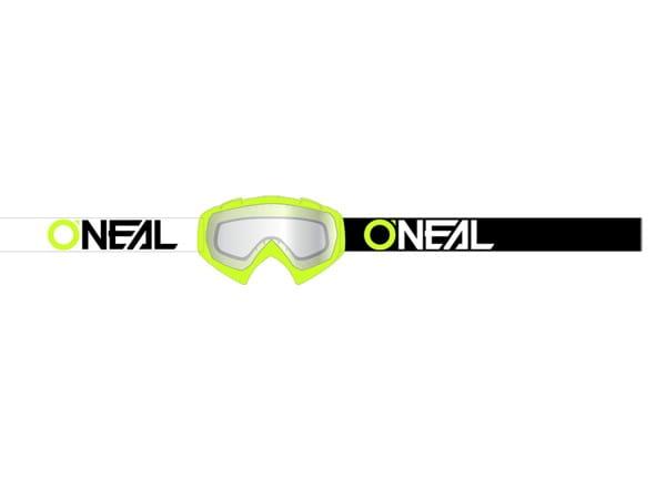 B10 Goggles Twoface Klar - Neongelb