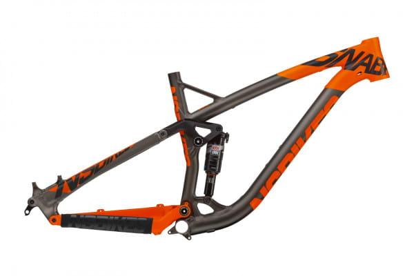 Snabb T Rahmen mit Monarch RT3 Debonair - dark raw/fluo orange
